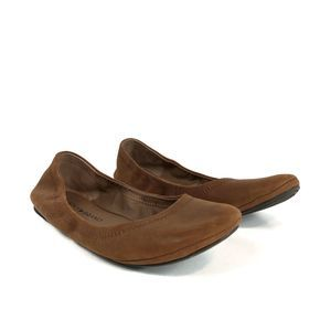 Lucky Brand Emmie Brown Leather Ballet Flats